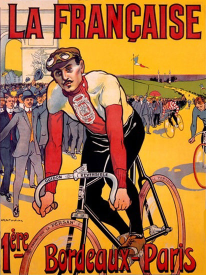 La Francaise Bordeaux – Paris  Bicycle Race | Vintage Ad and Cover Art 1891-1970
