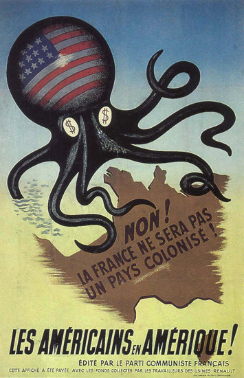 La France Ne Sera Pas Un Pay Colonise by USA | Vintage War Propaganda Posters 1891-1970