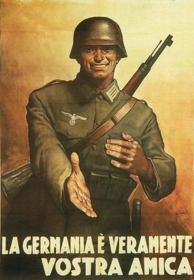 La Germania E Veramente Vostra Amica Friend | Vintage War Propaganda Posters 1891-1970