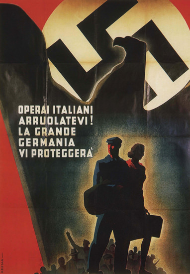La Grande Germania Italy Italia | Vintage War Propaganda Posters 1891-1970