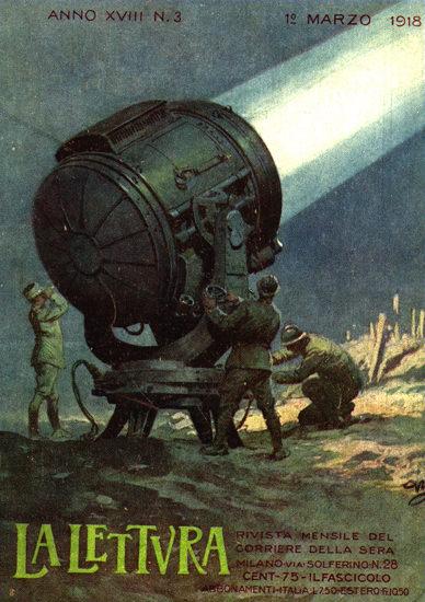 La Lettura Marzo 1918 | Vintage War Propaganda Posters 1891-1970