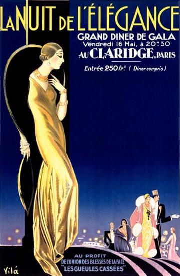 La Nuit De L Eelegance Claridge Paris Emilio Vila | Sex Appeal Vintage Ads and Covers 1891-1970