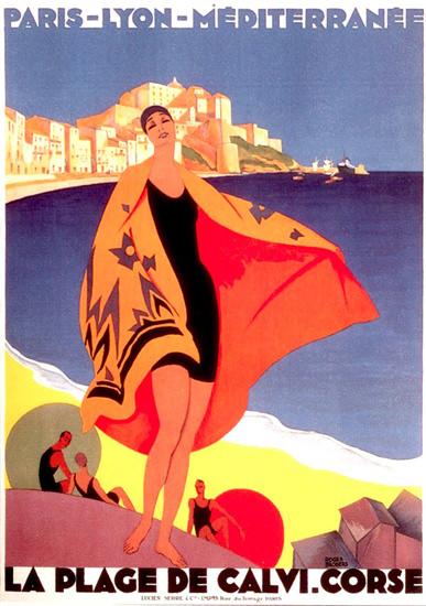 La Plage De Calvi Corse 1929 | Sex Appeal Vintage Ads and Covers 1891-1970