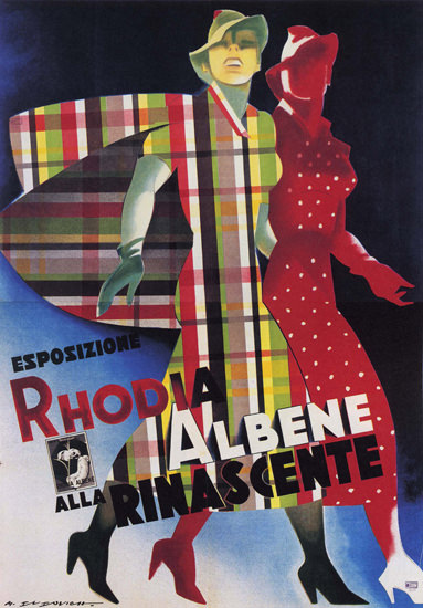 La Rinascente Espositione Rhodia Albene Clothing | Sex Appeal Vintage Ads and Covers 1891-1970