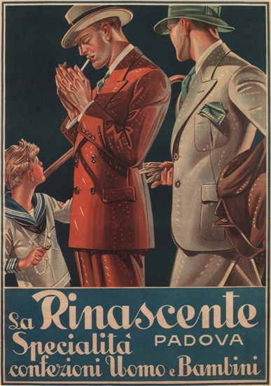 La Rinascente Padova Men Italy Italia | Sex Appeal Vintage Ads and Covers 1891-1970