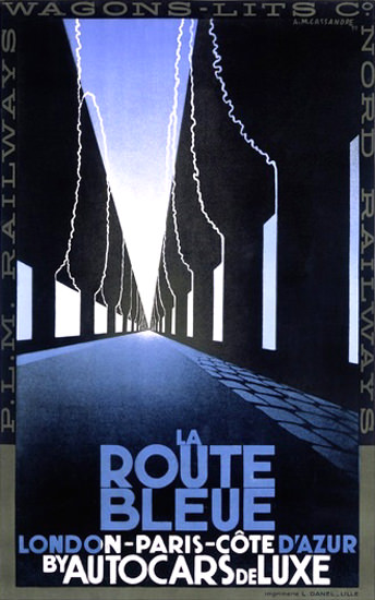 La Route Bleue London Paris Cote D Azur | Vintage Travel Posters 1891-1970