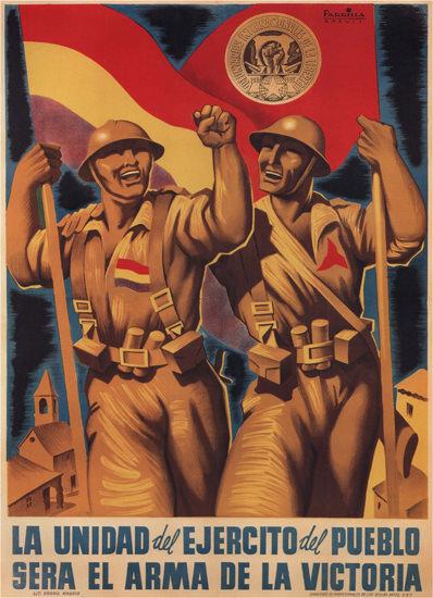 La Unidad Sera El Arma De La Victoria Espana   Vintage War Propaganda Posters 1891-1970