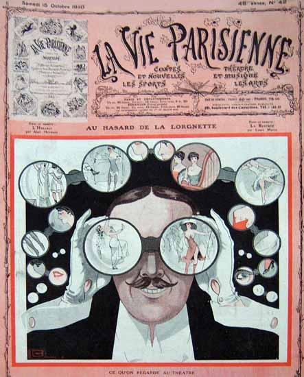 La Vie Parisienne 1910 Au Theatre Georges Leonnec   La Vie Parisienne Erotic Magazine Covers 1910-1939