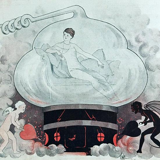 La Vie Parisienne 1910 Dans Une Parisienne Georges Leonnec crop | Best of Vintage Cover Art 1900-1970
