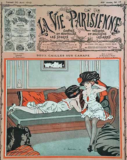 La Vie Parisienne 1910 Deux Cailles Sur Canape Sex Appeal | Sex Appeal Vintage Ads and Covers 1891-1970
