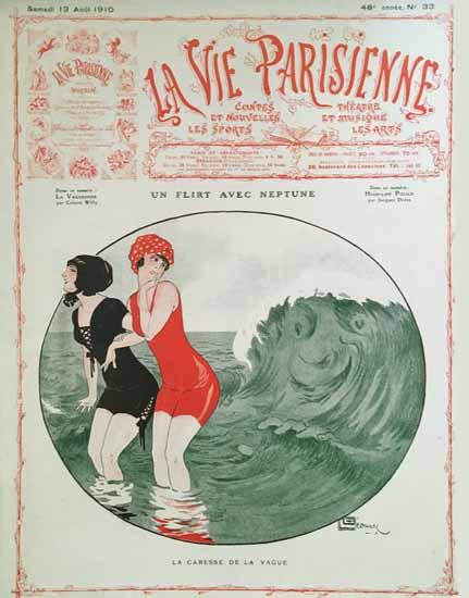 La Vie Parisienne 1910 La Caresse Georges Leonnec | La Vie Parisienne Erotic Magazine Covers 1910-1939