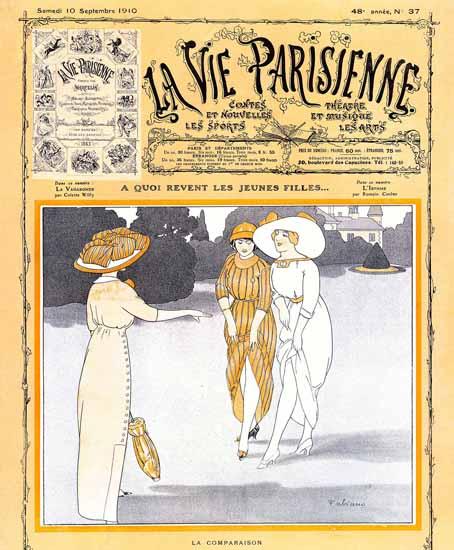 La Vie Parisienne 1910 Les Jeunes Filles Fabien Fabiano | La Vie Parisienne Erotic Magazine Covers 1910-1939