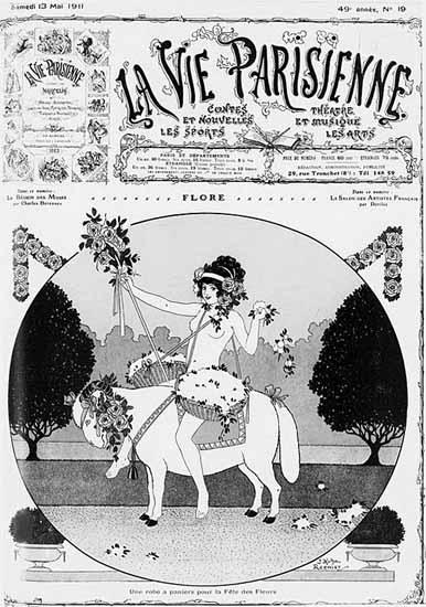 La Vie Parisienne 1911 Flore Joseph Kuhn-Regnier | La Vie Parisienne Erotic Magazine Covers 1910-1939