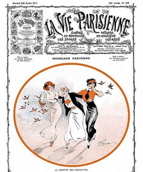 La Vie Parisienne 1911 Moineaux Parisiens Rene Prejelan | La Vie Parisienne Erotic Magazine Covers 1910-1939