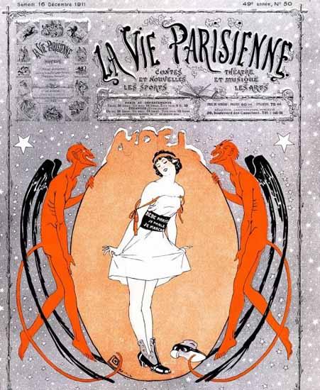 La Vie Parisienne 1911 Noel Sex Appeal   Sex Appeal Vintage Ads and Covers 1891-1970