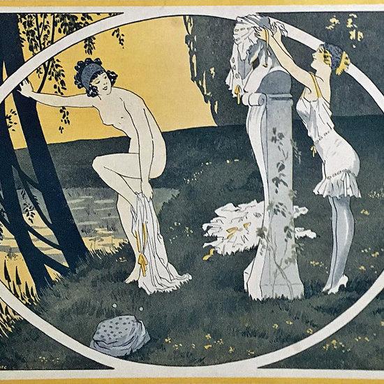 La Vie Parisienne 1911 Pastorale Georges Leonnec crop | Best of Vintage Cover Art 1900-1970