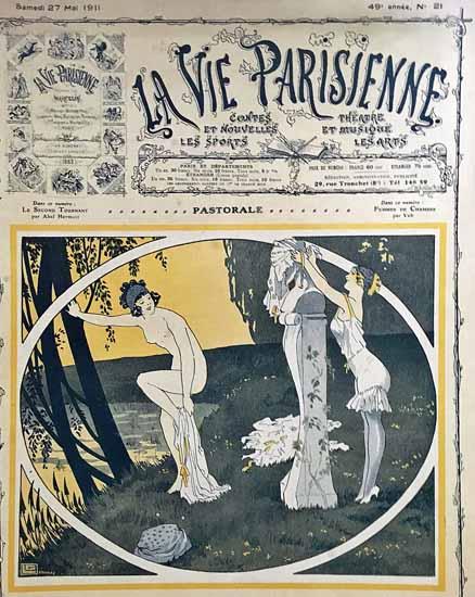 La Vie Parisienne 1911 Pastorale Georges Leonnec | La Vie Parisienne Erotic Magazine Covers 1910-1939