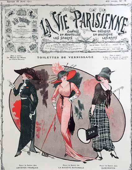 La Vie Parisienne 1911 Vernissage Georges Leonnec Sex Appeal   Sex Appeal Vintage Ads and Covers 1891-1970