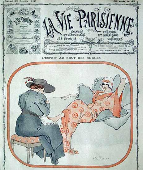 La Vie Parisienne 1912 Au Bout Des Ongles Fabien Fabiano   La Vie Parisienne Erotic Magazine Covers 1910-1939