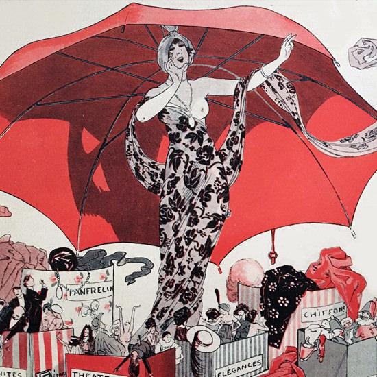 La Vie Parisienne 1912 La Actualites Georges Leonnec crop | Best of Vintage Cover Art 1900-1970