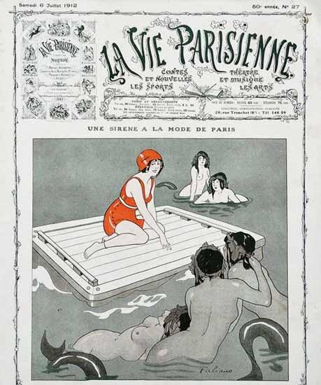 La Vie Parisienne 1912 Sirene A La Mode De Paris Sex Appeal | Sex Appeal Vintage Ads and Covers 1891-1970