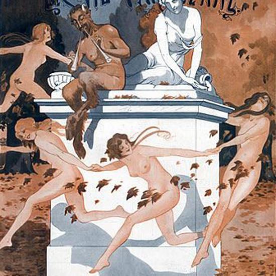 La Vie Parisienne 1913 Bal De L Automne Georges Leonnec crop | Best of Vintage Cover Art 1900-1970