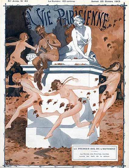 La Vie Parisienne 1913 Bal De L Automne Sex Appeal | Sex Appeal Vintage Ads and Covers 1891-1970