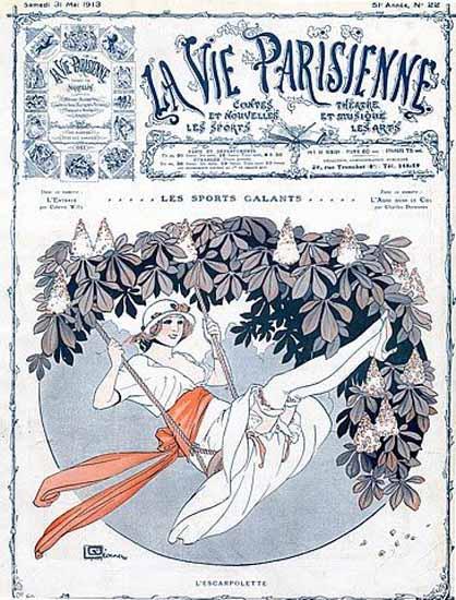 La Vie Parisienne 1913 L Escarpolette Sex Appeal   Sex Appeal Vintage Ads and Covers 1891-1970