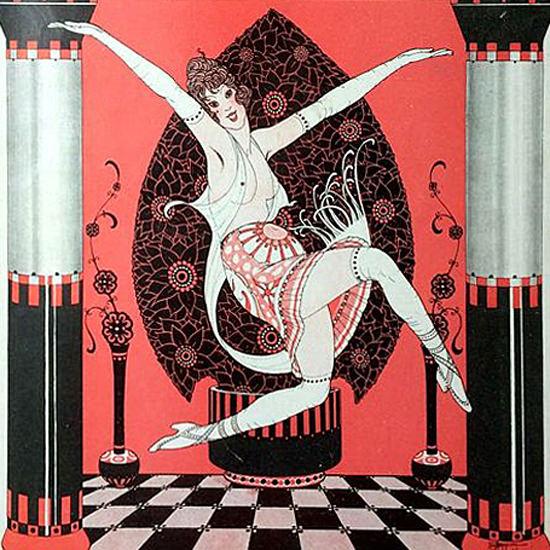 La Vie Parisienne 1913 La Danse De Demain Armand Vallee crop | Best of Vintage Cover Art 1900-1970