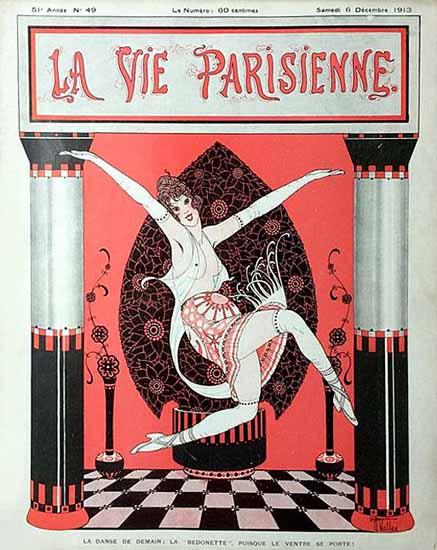 La Vie Parisienne 1913 La Danse De Demain Armand Vallee | La Vie Parisienne Erotic Magazine Covers 1910-1939