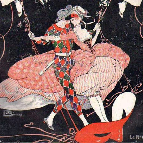 La Vie Parisienne 1913 La Mi-Careme Georges Leonnec crop | Best of Vintage Cover Art 1900-1970