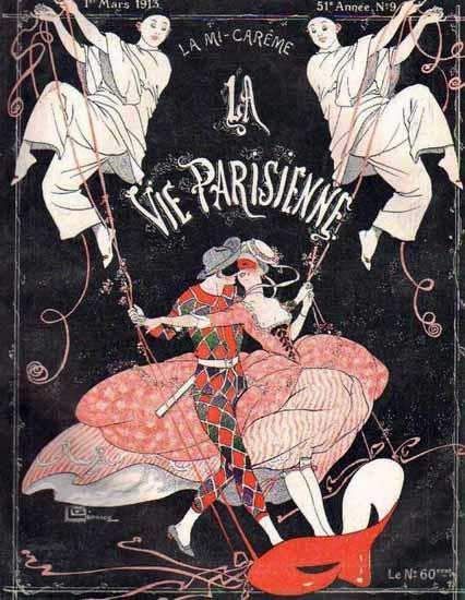 La Vie Parisienne 1913 La Mi-Careme Georges Leonnec | La Vie Parisienne Erotic Magazine Covers 1910-1939