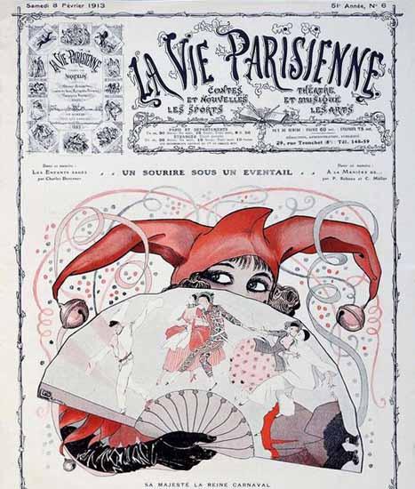 La Vie Parisienne 1913 La Reine Carnaval Sex Appeal | Sex Appeal Vintage Ads and Covers 1891-1970