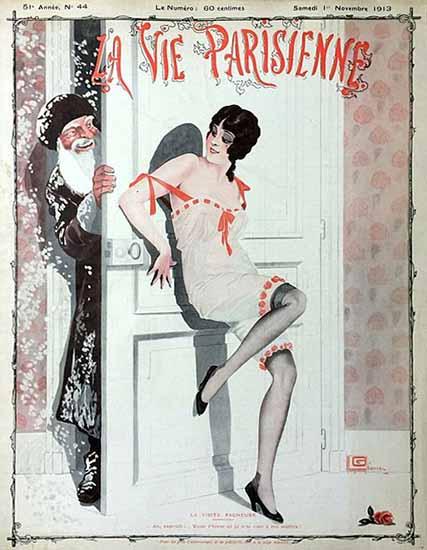 La Vie Parisienne 1913 La Visite Facheuse Sex Appeal   Sex Appeal Vintage Ads and Covers 1891-1970