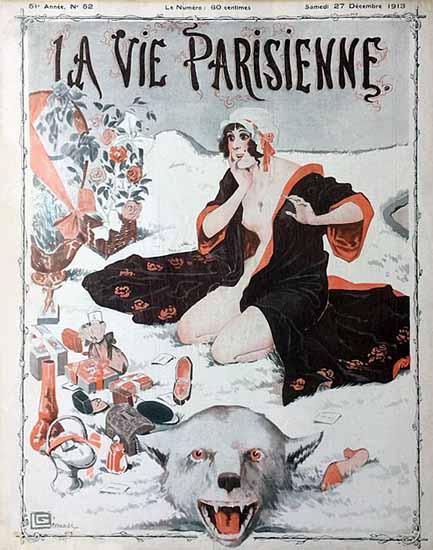 La Vie Parisienne 1913 Noel Georges Leonnec | La Vie Parisienne Erotic Magazine Covers 1910-1939