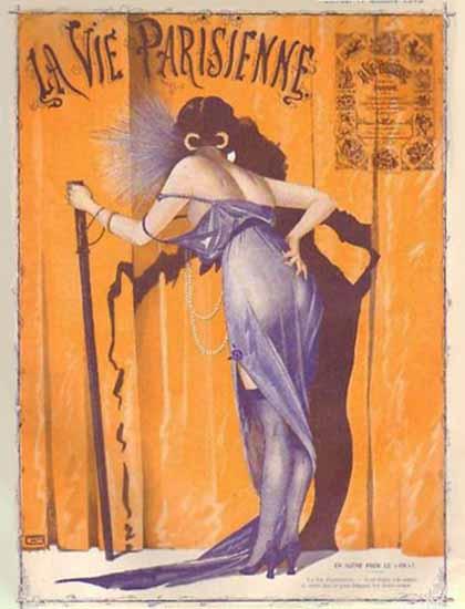 La Vie Parisienne 1913 Octobre 11 Georges Leonnec   La Vie Parisienne Erotic Magazine Covers 1910-1939