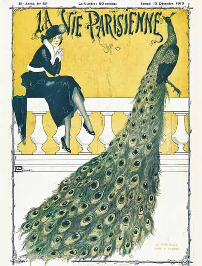 La Vie Parisienne 1913 Plus Belle Robe Georges Leonnec | La Vie Parisienne Erotic Magazine Covers 1910-1939