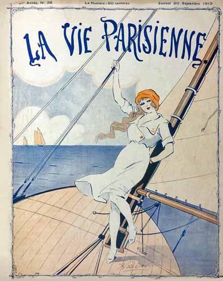La Vie Parisienne 1913 Voguer Rene Prejelan | La Vie Parisienne Erotic Magazine Covers 1910-1939
