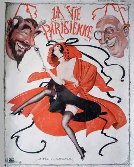 La Vie Parisienne 1914 Fee Du Carnaval Georges Leonnec | La Vie Parisienne Erotic Magazine Covers 1910-1939