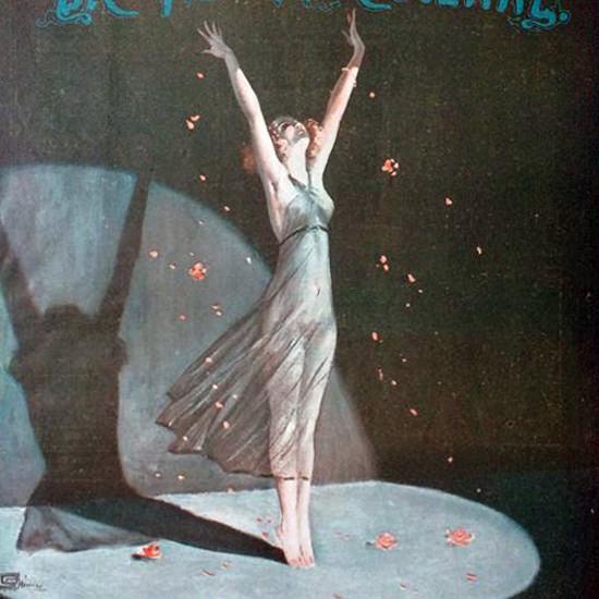 La Vie Parisienne 1914 Feux De La Rampe Georges Leonnec crop | Best of Vintage Cover Art 1900-1970