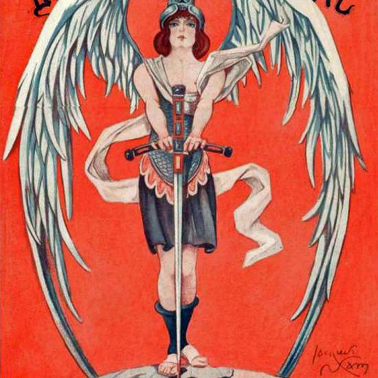 La Vie Parisienne 1914 L Ange Du Chatiment Jacques Nam crop | Best of 1891-1919 Ad and Cover Art