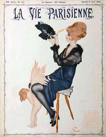 La Vie Parisienne 1914 La Plume De L Amour Raphael Kirchner | La Vie Parisienne Erotic Magazine Covers 1910-1939