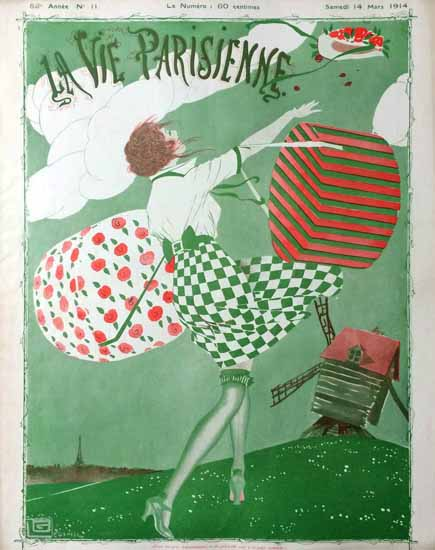 La Vie Parisienne 1914 Mars 14 Georges Leonnec Sex Appeal | Sex Appeal Vintage Ads and Covers 1891-1970
