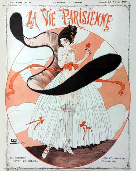 La Vie Parisienne 1914 Premier Rayon Georges Leonnec   La Vie Parisienne Erotic Magazine Covers 1910-1939