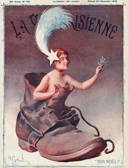 La Vie Parisienne 1915 Bon Noel   La Vie Parisienne Erotic Magazine Covers 1910-1939