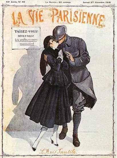 La Vie Parisienne 1915 L Avis Inutile Georges Leonnec | La Vie Parisienne Erotic Magazine Covers 1910-1939