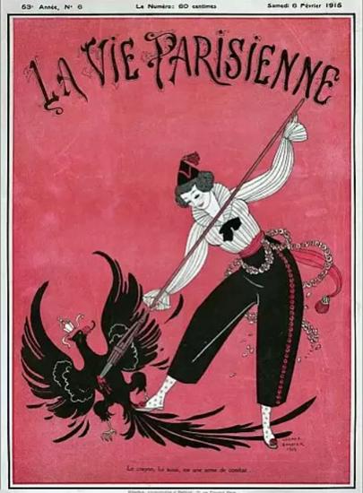 La Vie Parisienne 1915 Le Crayon George Barbier | La Vie Parisienne Erotic Magazine Covers 1910-1939