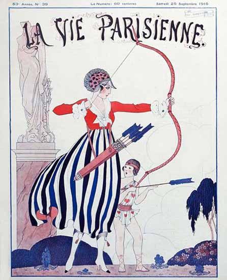 La Vie Parisienne 1915 Les Armes De L Amour Sex Appeal   Sex Appeal Vintage Ads and Covers 1891-1970