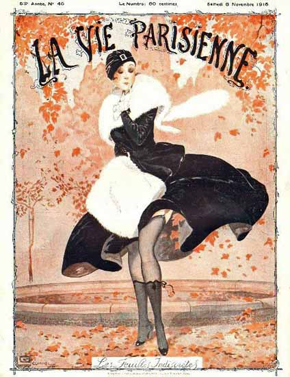 La Vie Parisienne 1915 Les Feuilles Indiscretes Georges Leonnec   La Vie Parisienne Erotic Magazine Covers 1910-1939