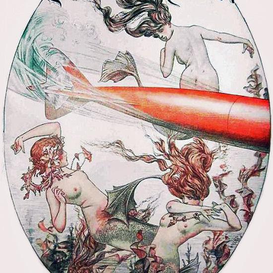 La Vie Parisienne 1915 Une Torpille Cheri Herouard crop | Best of Vintage Cover Art 1900-1970